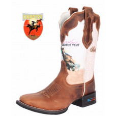 BOTA FEMININA SMITH BROTHERS CANO ESTAMPADO BARREL´S TEAM