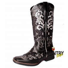 BOTA TEXANA WEST- PRETO MUSTANG