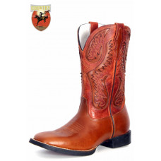 BOTA MASCULINA TEXANA GOYAZES PULL UP TAM - DALLAS ORANGE H1056-CEC