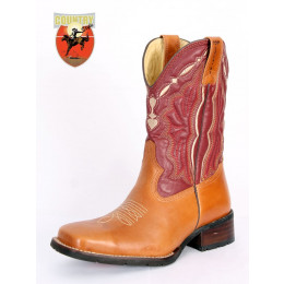 c3a4ea8da9b BOTA MASCULINA TEXANA TOP COUNTRY - BROWN CARAMELO BORDO